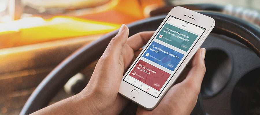 Smarttelefon som viser digitalservicebok